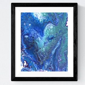 NWOT Abstract Art Graphic Print